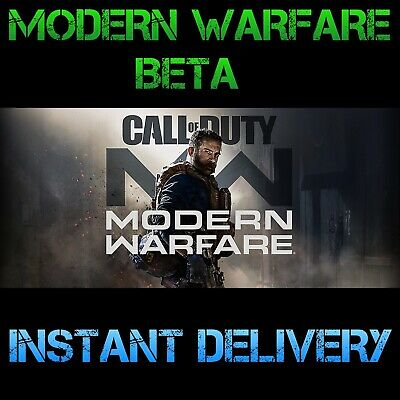 Call of Duty Modern Warfare Early Access BETAS Code + CaptainPrice - PS4 XBOX PC