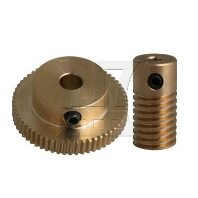 1:60 0.5-mode 60Teeth Industrial Brass Worm Gear & Shaft Reducer 3.17mm