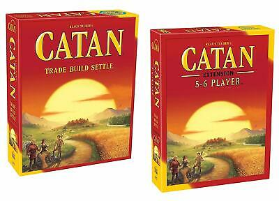 The Settlers of Catan 5th Edition Board Game + 5-6 Player Expansion Extension