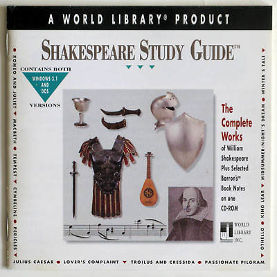 Shakespeare Study Guide: The complete works of William Shakespeare CD Windows 10