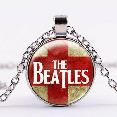 The Beatles Vinyl Or Album cover Glass  Cabochon Necklace Jewellery FinkGifts