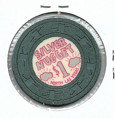 silver nugget 1.00 casino chip