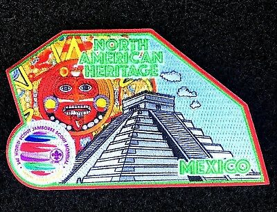 OFFICAL 24th MEXICO 2019 WORLD SCOUT JAMBOREE North America Patch Badge BSA USA
