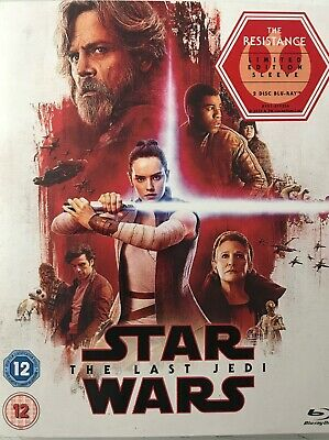 Star Wars The Last Jedi (2x Blu Ray) The Resistance Slipcover - New Sealed