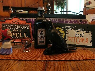 Halloween Decorations Lot * Witch * Crow * Signs* Shot Glass *