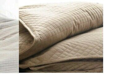"""Quilted Weighted BlanQuil Therapy Blanket 15lb - 48"""" x 74"""" Taupe Brand NEW OB"""