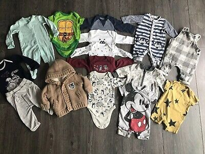 0-3 months boys bundle Next, Nutmeg, Bluezoo, Mothercare, Disney Etc