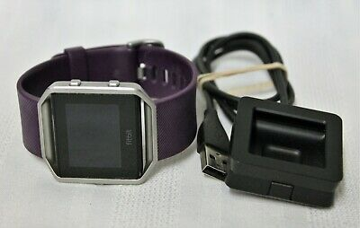 Fitbit Blaze FB502 Fitness Smartwatch Activity Tracker - Large - Plum