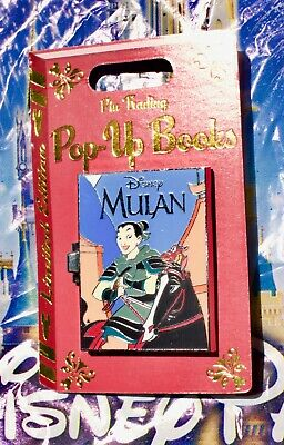 Disney Potm Pin Trading Pop Up Books Mulan Limited Edition  4000 Pin New In Hand