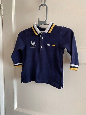 Baby Boys Mayoral Long Sleeve Polo Shirt Top 12 M 9-12 Months Designer