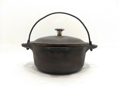 RARE VINTAGE Cast Iron GRISWOLD NO. 0 Table Service Dutch Oven 109 With Lid 581