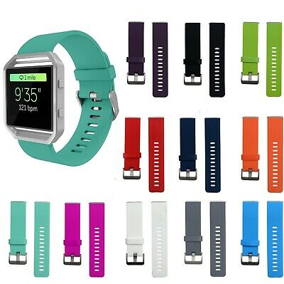 For FitBit BLAZE Replacement Soft Silicone Buckle Sports Wrist Watch Band Strap