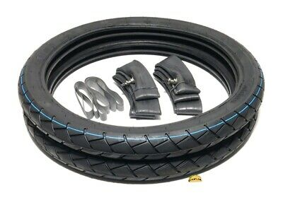 Peugeot 103 17inch tire pack - tires tubes & rim strips