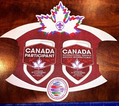 Canadian 3 Pc IST & Contingent Patch Badge 2019 24th World Boy Scout Jamboree
