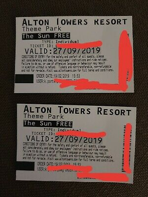 X2 Alton Towers Tickets - Friday 27th September