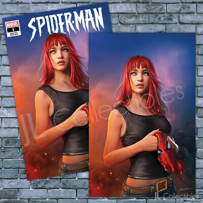 🔥 Spider-Man #1 Shannon Maer Mary Jane Trade + Virgin Set Variant Amazing Nm!