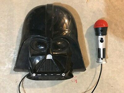 Kids Star Wars Darth Vader Voice Changing Boombox Connects to MP3 Player