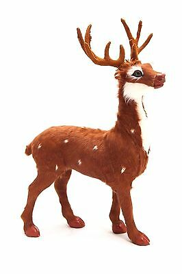 Stag Buck Deer Replica Sheepskin Covered Collectible Furry Animal High Quality