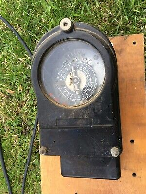 Vintage The Horstmann Gear Co Ltd Bath Timer Switch Meter with Key