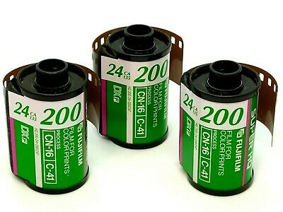 Lot of 3 FujiColor SUPER HQ 24 200 35mm Film Roll 24 Exposure Fuji Color Camera