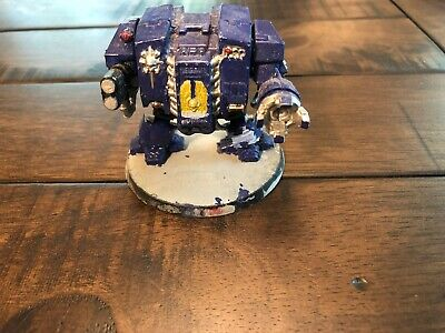 Warhammer 40k Space Marine Dreadnought poor paint