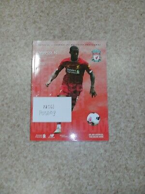 LIVERPOOL v NEWCASTLE UNITED 14/9/2019 OFFICIAL PROGRAMME ( MINT CONDITION )