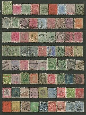 British Colonies- Useful Queen Victoria Mixed Collection Of Album Remainders