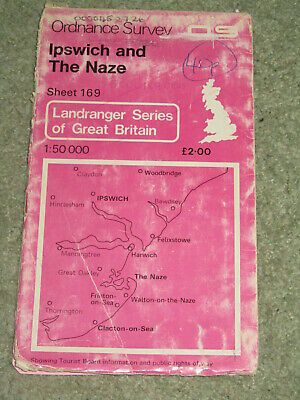 OS Ordnance Survey Landranger Map Sheet 169 Ipswich & The Naze