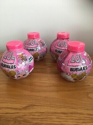 4 X LOL Surprise Bubbles 280ML With A Surprise Toy 2D Doll & Stickers Inside