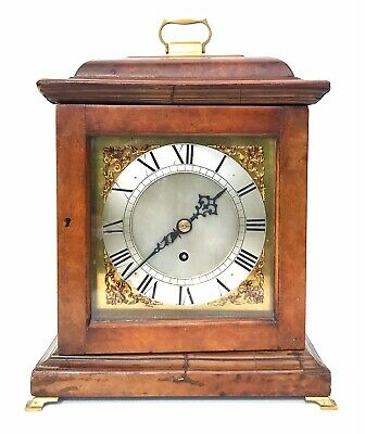 Burl Walnut Single Fusee Bracket Clock
