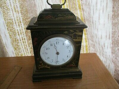 Antique French Mantle Clock  R&Co Paris/C1880 Woodern Marketery Inlay