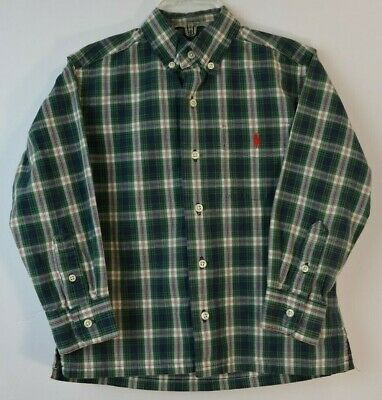 Boys's 4/4T - Ralph Lauren Polo - Plaid Button Shirt - Pre-Owned-Very Good Cond.