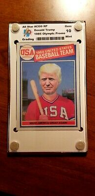 DONALD TRUMP 1985 Topps USA Baseball Card Make America Great Again Gem Mint 10