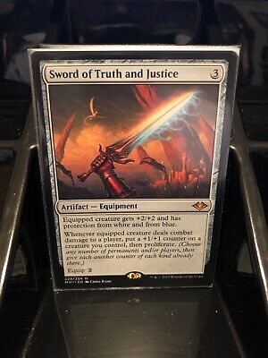 1 Sword of Truth and Justice - Artifact Modern Horizons Mtg Magic Mythic Rare 1x
