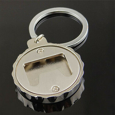 Creative Beer Bottle Cap-Shaped Advertising Bottle Opener Keychain Openers Gift