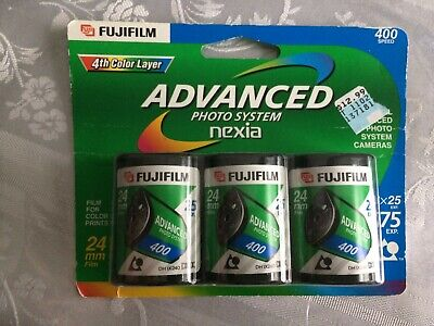 24 mm Fujifilm Advanced Photo System Nexia 25 exp 3 pack New Sealed Expired 2005