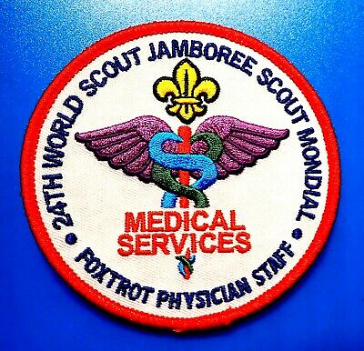 VY RARE 24th 2019 WORLD SCOUT JAMBOREE OFFICAL WSJ MEDICAL SERVICES BADGE PATCH*