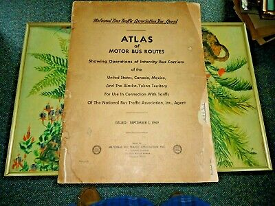 1949 Atlas of Motor Bus Routes by National Bus Traffic Assoc. in good shape - NR