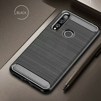 For Huawei Y9 Prime 2019 Armor Tough Carbon Shockproof Cover Soft Case