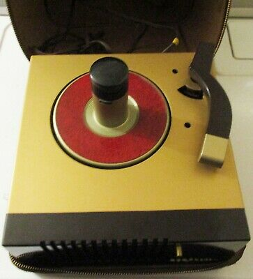 RCA VICTOR RECORD PLAYER 45-EY-IN LEATHER CASE-FOR 45 rpm RECORDS-1949