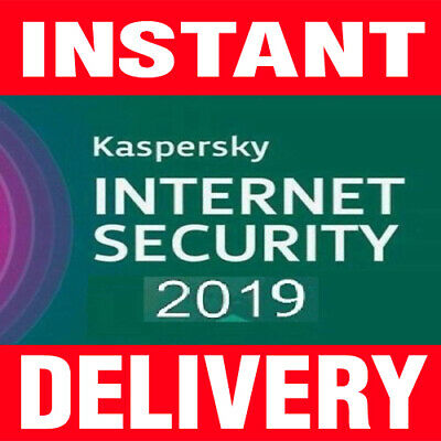 Kaspersky Internet Security 2019 1 PC - 1 YEAR (INSTANT DELIVERY)