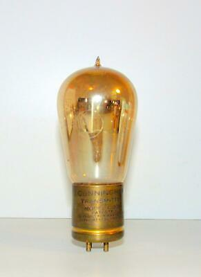Early Cunningham brass base, tipped C-302 transmitting tube by GE.  Untested.