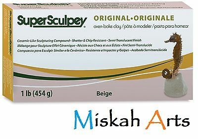 SUPER SCULPEY -  ORIGINAL - Polymer Clay - 454g - BEIGE