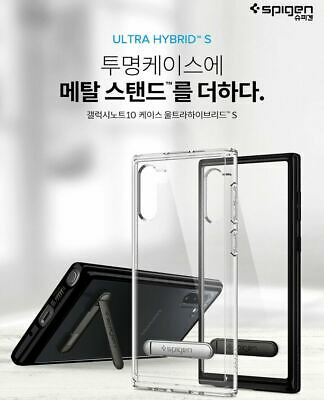 Spigen Ultra Hybrid S Slim Clear Kickstand Cover For Galaxy Note 10 10 Plus Case