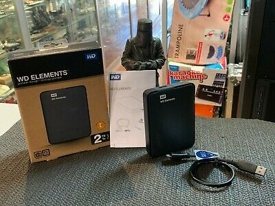 Wd Elements (Wdbu6Y0020Bbk-Pesn) 2Tb Portable Hard Drive In Box - New Never Used