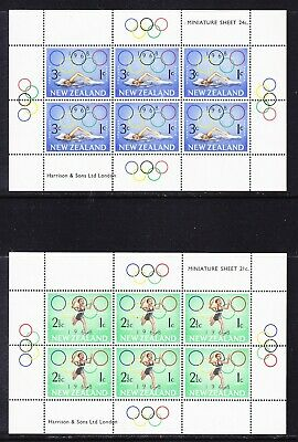 New Zealand 1968 Health Stamps TWO  Miniature Sheets Mint Never Hinged