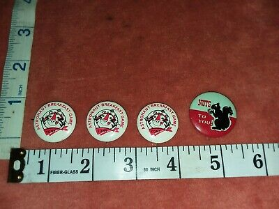 3 Vintage Astronaut Breakfast Game Tony the Tiger Pin Buttons and Nut to you.