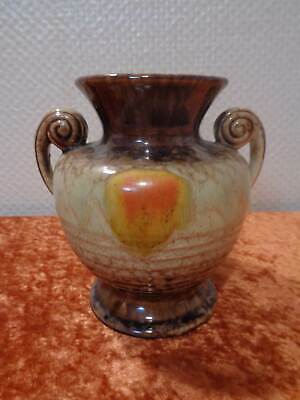 Art Deco Ceramics Glaze Design Vase - Vintage - Handmade - German