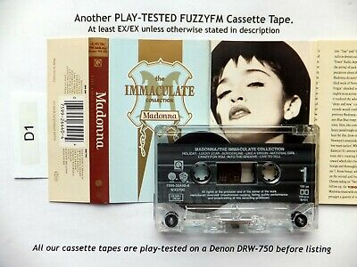 """Madonna """"The Immaculate Collection"""" EU CASSETTE ALBUM/TESTED WX370C Compilation"""