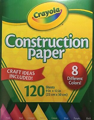 Crayola Construction Coloured Craft Paper, 8 different colours, 120 Sheets